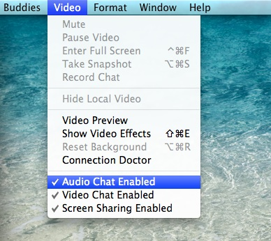 Fix for greyed out 'Ask to Share Screen' option in iChat