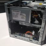The inside of the HP Proliant MicroServer Gen8 is accessible