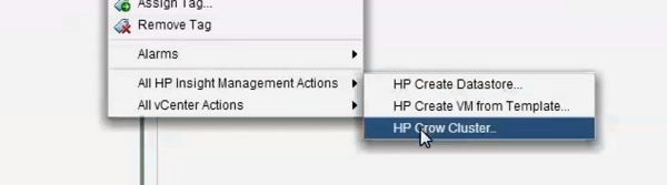 HP Grow Cluster - vCenter with OneView